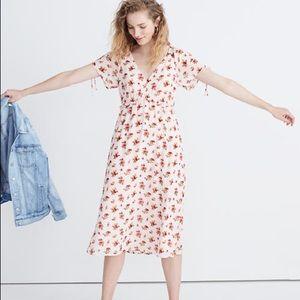 Madewell | Floral Tie Sleeve Midi Dress NWT